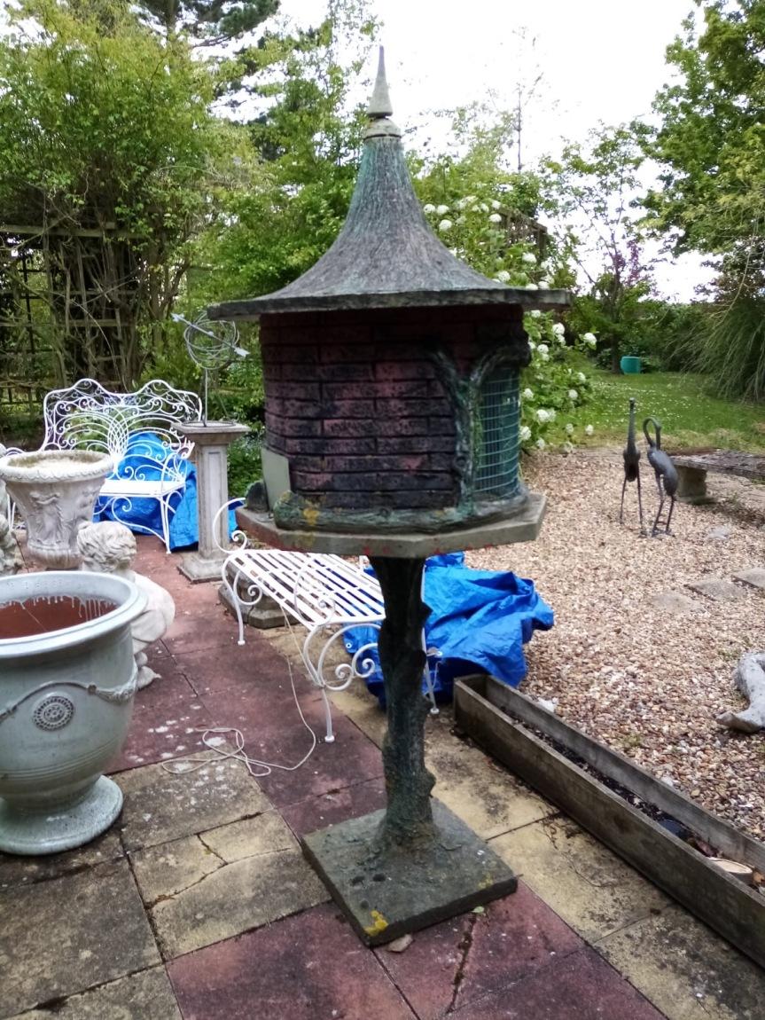 ROG25 rare french stone birdhouse 207cm height £625